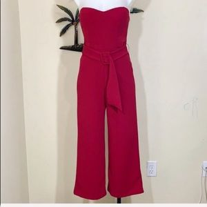 Revamped cranberry strapless jumpsuit size XS JR